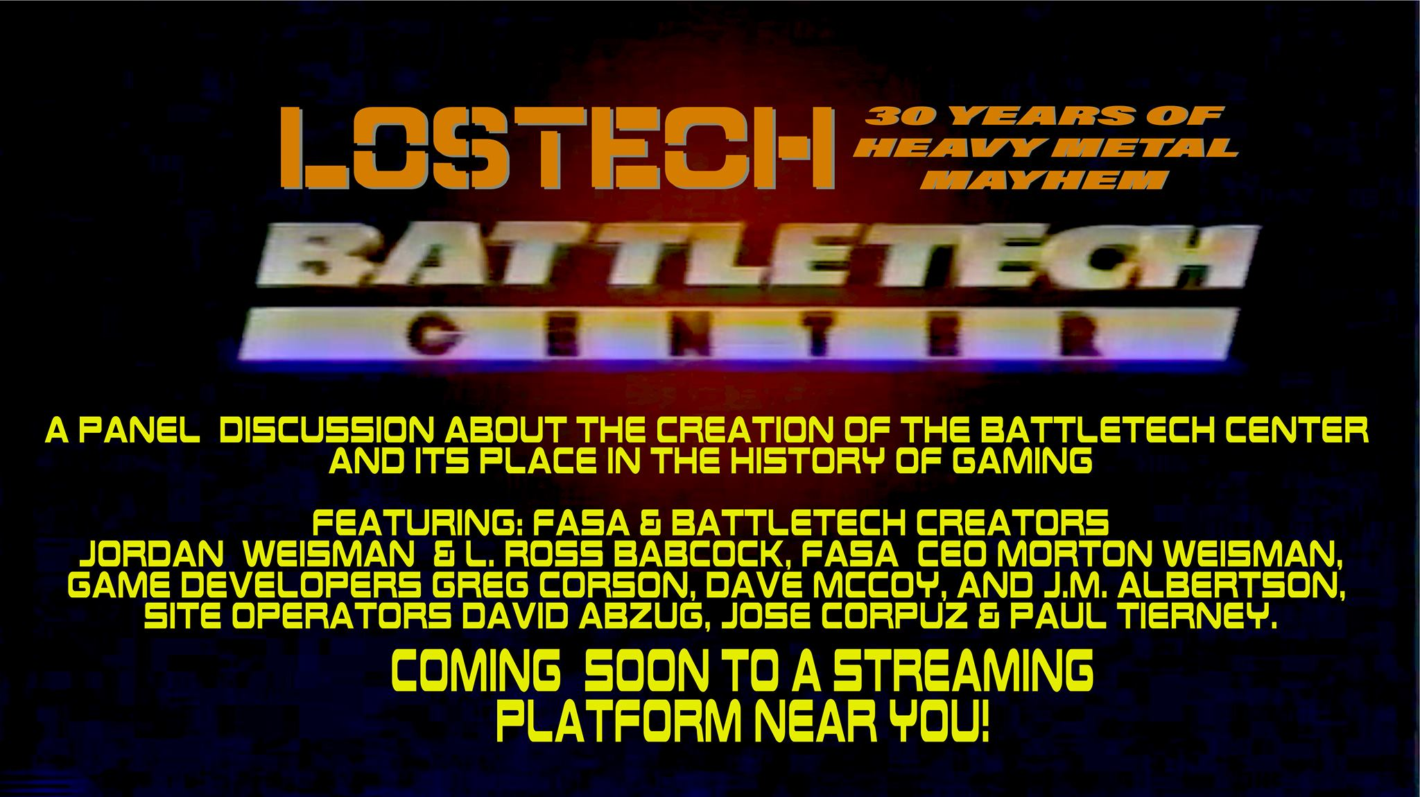 Lostech: The History of The BattleTech Center and Virtual World. Coming Soon!